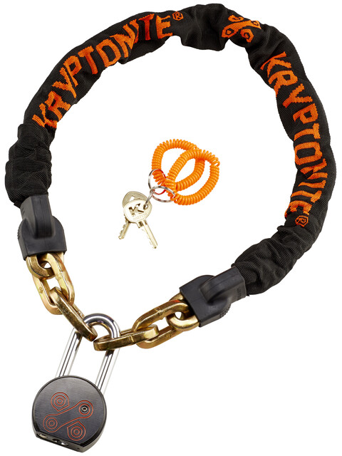 Kryptonite Messenger Chain & Moly - Antivol vélo - orange/noir